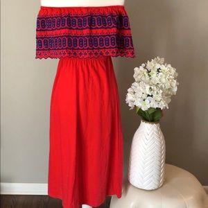 🌷 ASOS off the shoulder midi dress